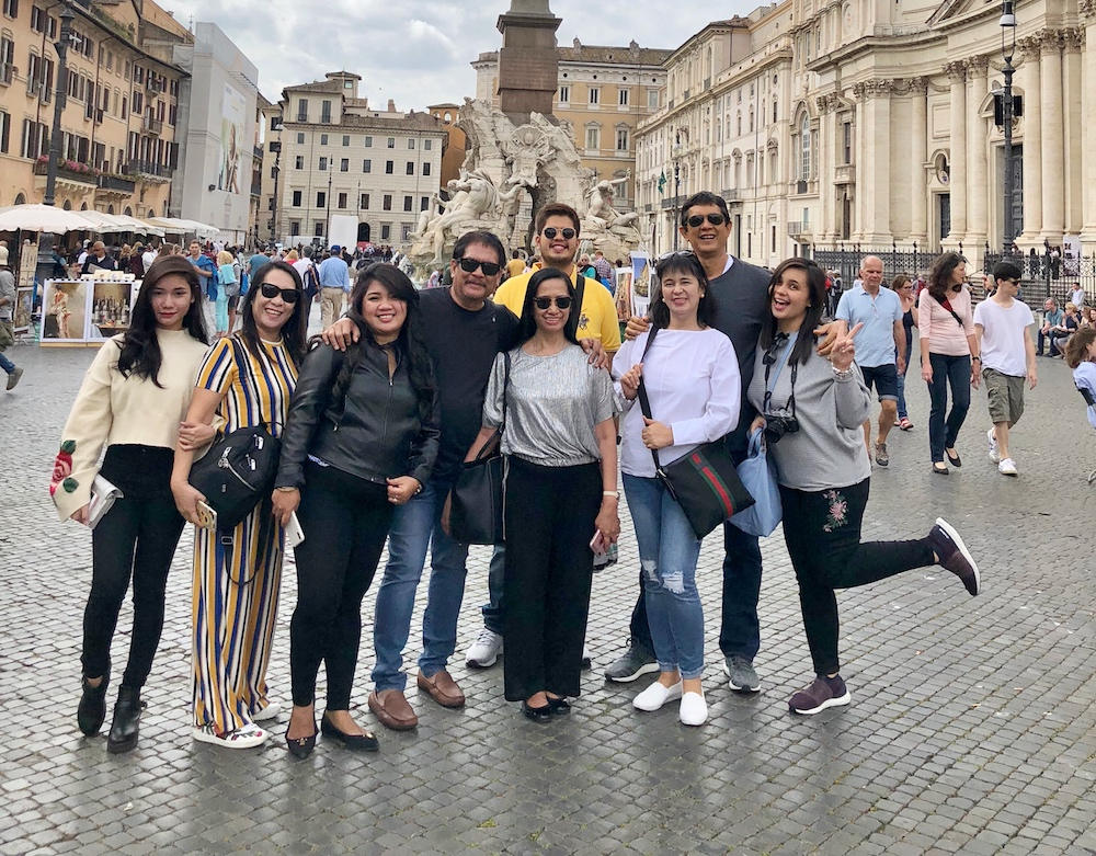 Natividad Family Enjoys Their Trip in Europe